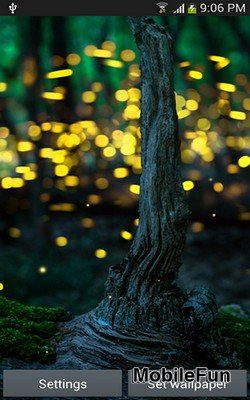 Fireflies by Top Live Wallpapers hq (Светлячки)