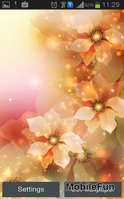 Glowing Flowers by Creative Factory Wallpapers (Светящиеся цветы)
