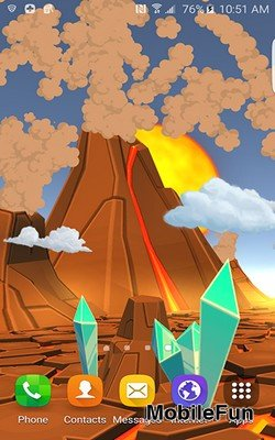 Cartoon Volcano 3D (Мультяшный вулкан 3D)